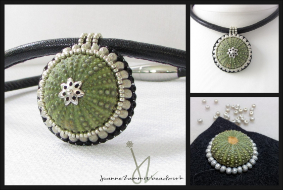 Sea Urchin Necklace on Leather