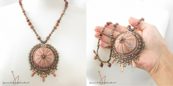 Pink Sea Urchin Necklace